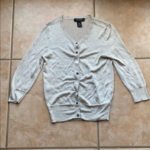 White House Black Market Sweaters - 3/$30 WHBM Gold Lurex Stretch Cardigan Size XS